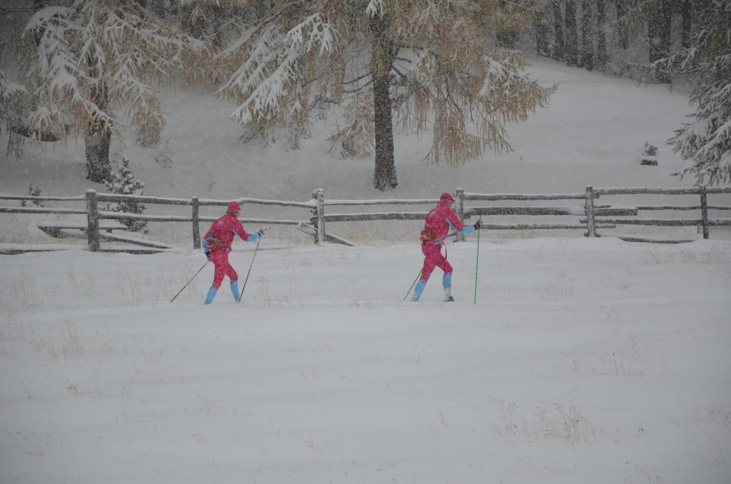 Spårningsteamet Olle och Sara i Val Senales Foto: SkiProAm