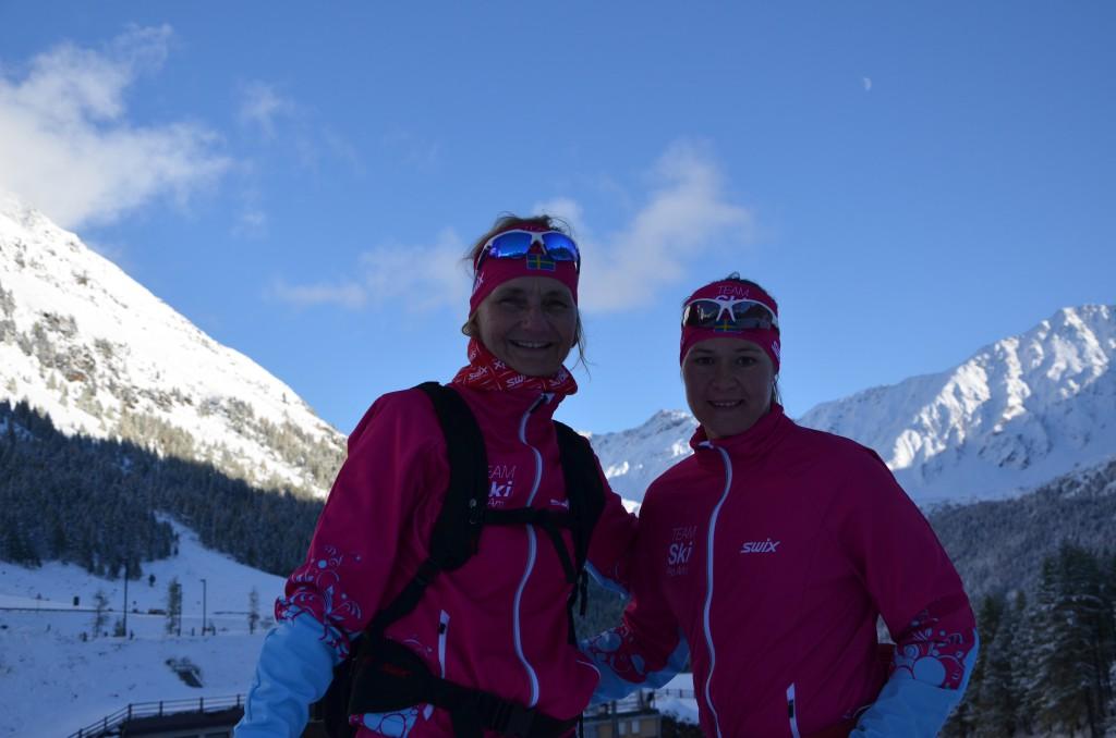 TEAM SkiProAm-Runi Wold, Britta Johansson Norgren Val Senales okt 2013 (Foto:SkiProAm)