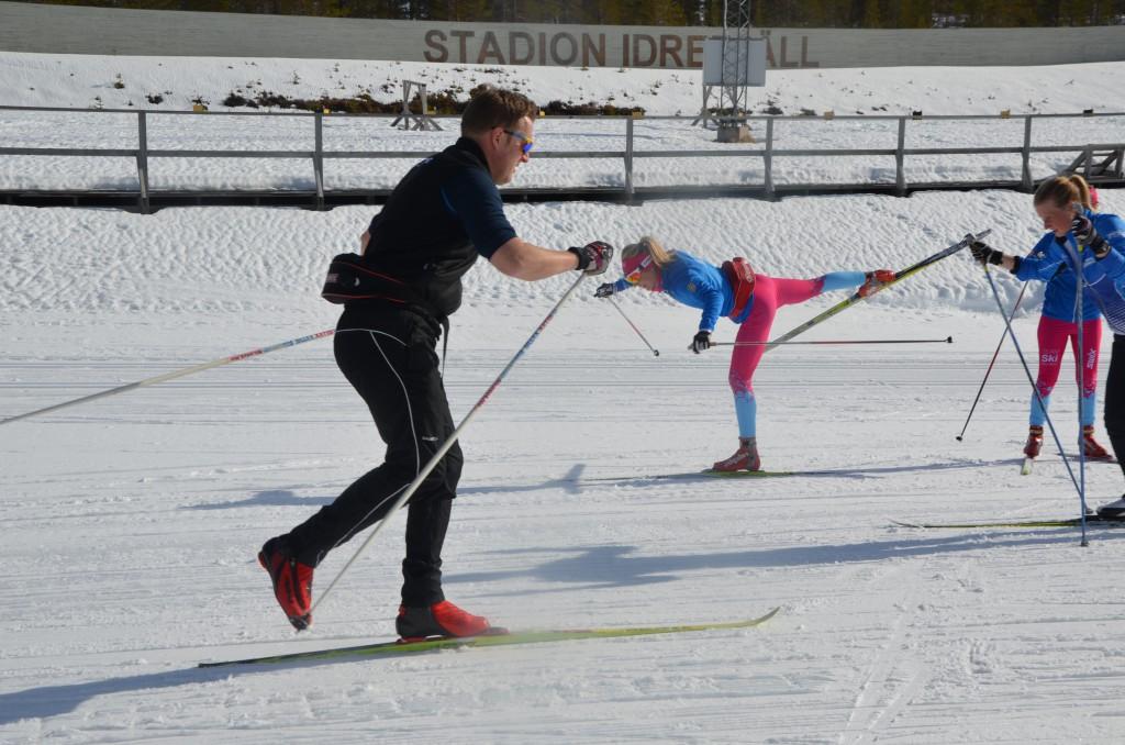 Från certifiering av skidcoacher mars 2014. Balansteknik. (Foto:SkiProAm)