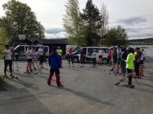 Samling innan start. Foto: Annika Zell